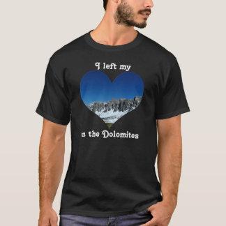 T-shirts Eu deixei minhas dolomites Italia da montanha da