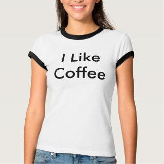 T-shirts Eu gosto do T do café