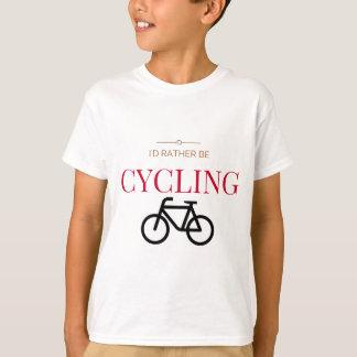 T-shirts Eu preferencialmente estaria dando um ciclo