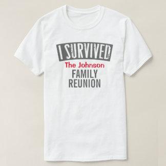 T-shirts Eu sobrevivi - reunião de família - personalizo-a