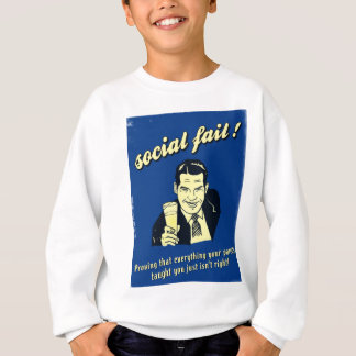 T-shirts falha social