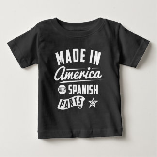 T-shirts Feito em América com peças espanholas