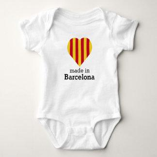 T-shirts Feito em Barcelona, bandeira Catalonia do coração