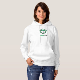 T-shirts Fêmea do Hoodie do logotipo de Terracoin