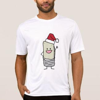 T-shirts Feriado de ondulação do chapéu do papai noel do