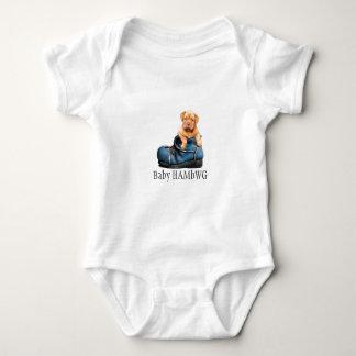 T-shirts Filhote de cachorro no bebê HAMbWG dos calçados -