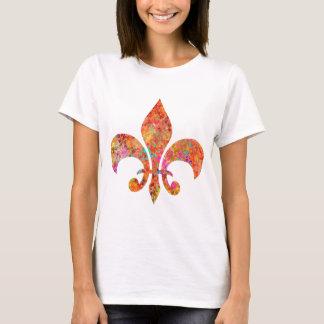 T-shirts Flor de lis do desenhista da estrela do bordo