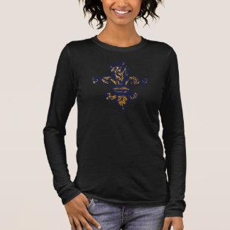 T-shirts Flor de lis do ouro do vintage