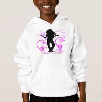 T-shirts Hoodie da rainha do adolescente