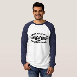 T-shirts Hoodie naval do candidato da tripulação aéreo.