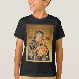 T-shirts Ícone ortodoxo russo - Virgem Maria e bebê Jesus