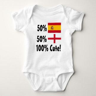 T-shirts Inglês 100% do espanhol 50% de 50% bonito