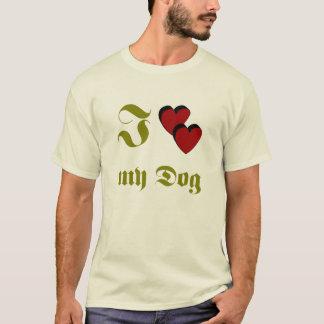T-shirts J Dog love my