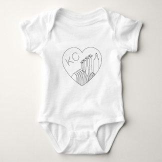 T-shirts Kansas City - linha minimalista coração da skyline