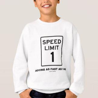 T-shirts Limite de velocidade 1 que move-se tão rapidamente