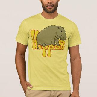 T-shirts Lourd de Hippopotame - jaune