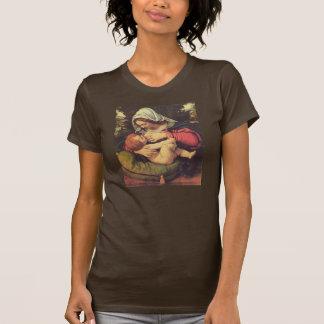 T-shirts Madonna da amamentação verde de Solario do coxim