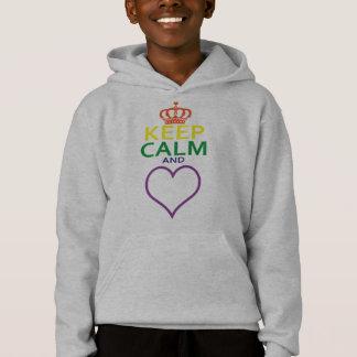 T-shirts Mantenha a calma e AME-A. Arco-íris