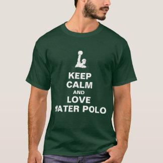 T-shirts Mantenha a calma e ame o pólo aquático