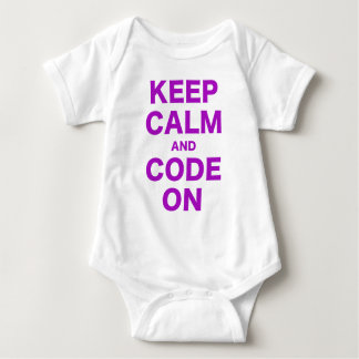 T-shirts Mantenha a calma e o código sobre