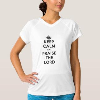T-shirts Mantenha a calma & elogie o senhor