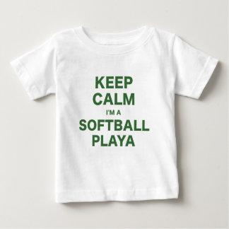 T-shirts Mantenha a calma Im um softball Playa
