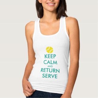T-shirts Mantenha a camisola de alças do retorno calma do