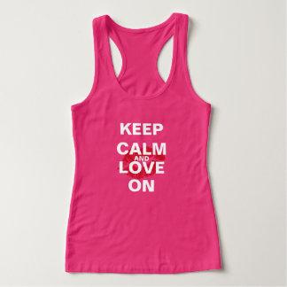 T-shirts Mantenha calmo, obtenha a sorte