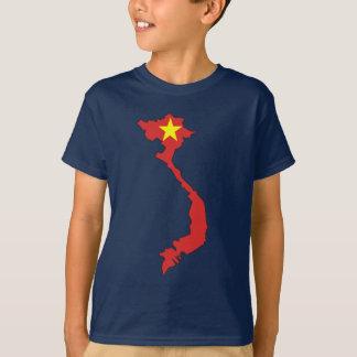 T-shirts Mapa da bandeira de Vietnam
