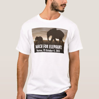 T-shirts Março para elefantes