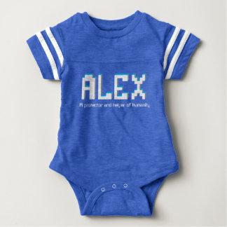 T-shirts Meninos nome de Alex e texto do pixel do
