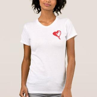 T-shirts Morre o coração de sangramento bonito