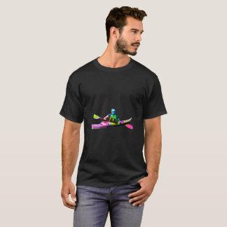 T-shirts Motorista colorido do caiaque