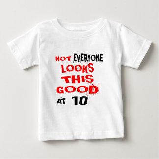 T-shirts Não cada olha este bom 10 no aniversário Desig