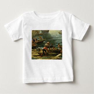 T-shirts navios da carga dos homens