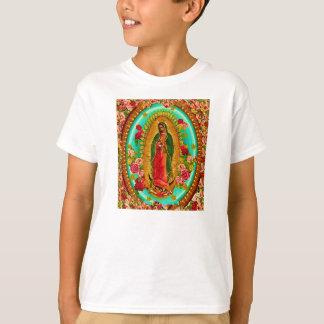 T-shirts Nossa Virgem Maria mexicana do santo da senhora