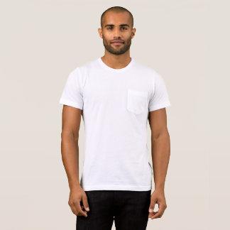 T-shirts O Bella dos homens+T-shirt do bolso das canvas