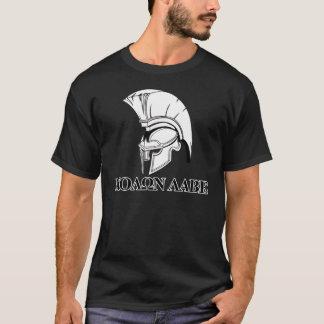T-shirts O capacete grego espartano vem tomar-lhe Molon