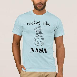 T-shirts o foguete gosta da NASA
