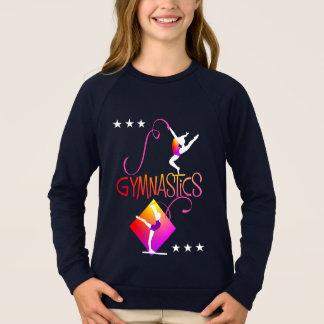 T-shirts O Gymnast figura o gráfico bonito da ginástica das