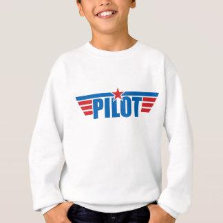 T-shirts O piloto voa o crachá - aviação