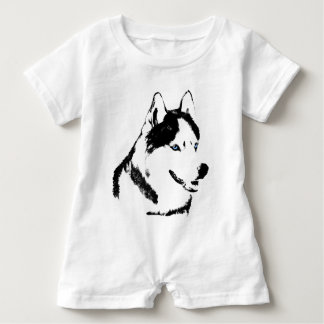 T-shirts O Romper ronco do rouco Siberian do Romper do bebê