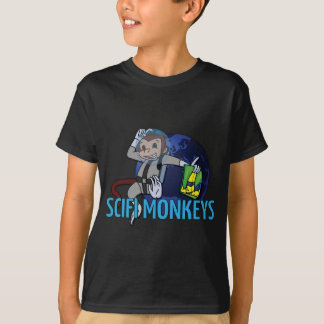 T-shirts O SciFi Monkeys o logotipo
