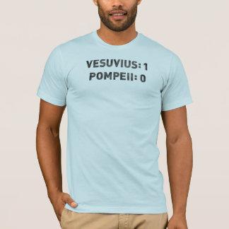 T-shirts O VESÚVIO contra POMPEII