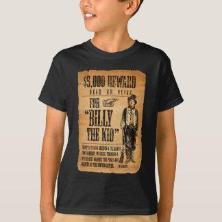 T-shirts O vintage o poster quis/recompensa para Billy o