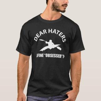 T-shirts obcecado com caiaque