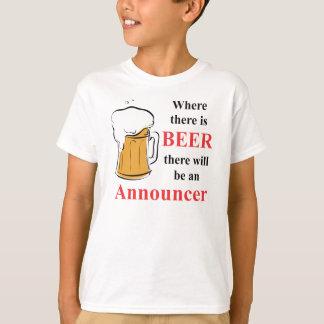 T-shirts Onde há cerveja - anunciador
