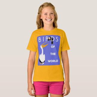 T-shirts Pássaros retros do mundo, pelicano, toucan