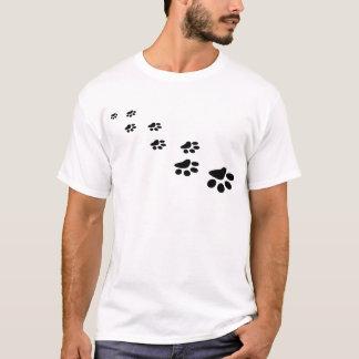 T-shirts PATAS! (~ dos impressões da pata do cão de filhote