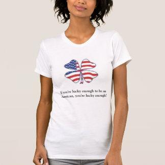 T-shirts Patriota afortunado